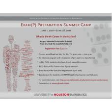 Actuarial Science Summer Camp - Exam (P) Preparation