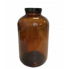 Amber Glass Bottle - WM - 85oz