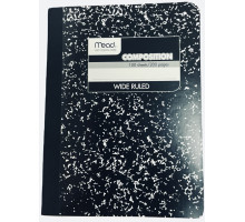 Composition Notebook - Wide-Ruled - Black & White