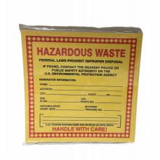Hazardous Waste Labeling Tape - 25pk